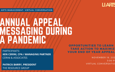 Arts Managmenet Forum- Annual Appeal Messaging During a Pandemic