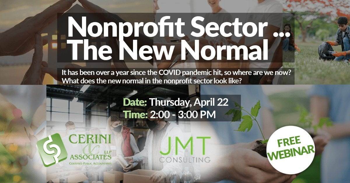 Nonprofit Sector…The New Normal